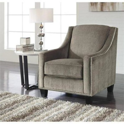 Ashley Furniture Ashley Donnell Fabric Accent Chair in Otter