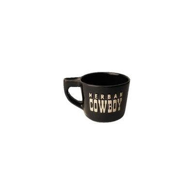 Herban Cowboy Ceramic Shave Mug Count