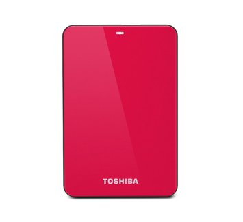 Toshiba Canvio Connect 500GB Portable External Hard Drive, Red