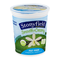 Stonyfield Organic Smooth & Creamy Fat Free Yogurt French Vanilla