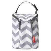 Grab and Go Double Bottle Bag - Chevron by Skip Hop