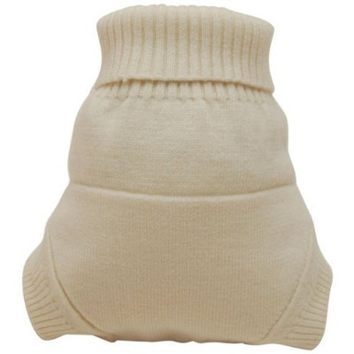 Kissaluvs Kissa's Wool Lover Diaper Cover, Natural, Large