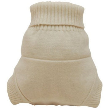 Kissaluvs Kissa's Wool Lover Diaper Cover, Natural, Large