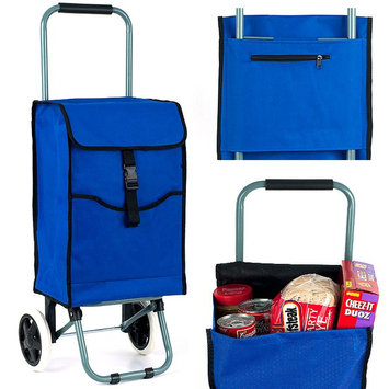 Trademark Commerce Trademark Eco-Friendly Portable Canvas Shopping Cart, 3 Compartments