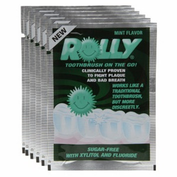 Rolly Brush Mini Toothbrush on the Go, Mint, 6 ea
