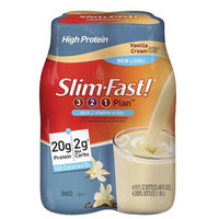 Slim-Fast 3-2-1 Plan Low Carb Shake Ready to Drink 4-Pack Vanilla Cream