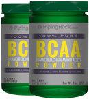 Piping Rock BCAA Powder Branched Chain Amino Acids 2 Bottles x 9 oz. Powder