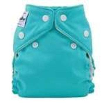 FuzziBunz Perfect Size Cloth Diaper - Spearmint (Small)
