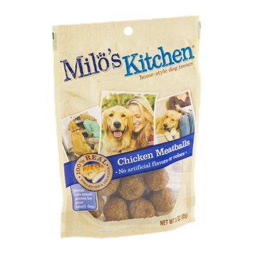 Milo's Kitchen Home-Style Dog Treats 100% Real Chicken Meatballs
