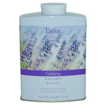 Taylor of London Calming Lavender Luxury Talcum Powder (Shaker), 7.0 Oz