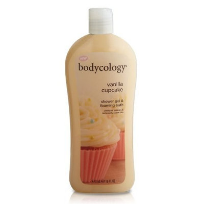 Bodycology Shower Gel and Bubble Bath, Vanilla Cupcake, 16-Fluid Ounce (Pack of 2)