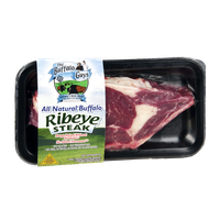 The Buffalo Guys Ribeye Steak All Natural Buffalo