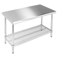 Seville Stainless Steel Top Work Table