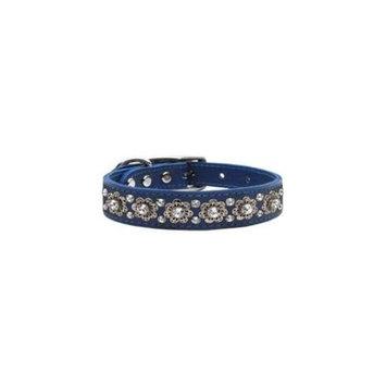 Mirage Pet Products 83-20 16BL Fancy Jewel Leather Blue 16
