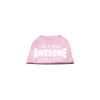 Ahi This is What Awesome Looks Like Dog Shirt Light Pink XXXL (20)