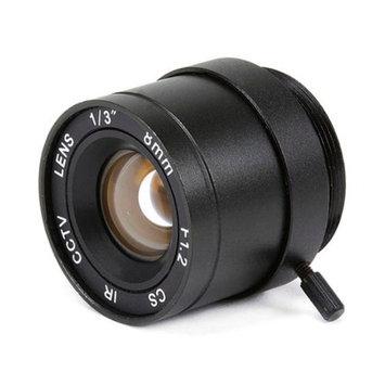 Monoprice 1/3 Inch 8mm IR F1.2 Fixed Iris CS Mount Lens W/IR Correction