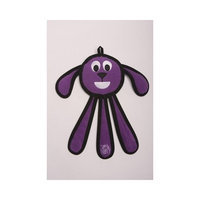 Tuff Enuff Dangles 14-Inch Puppy Toy for Dogs, Large, Purple