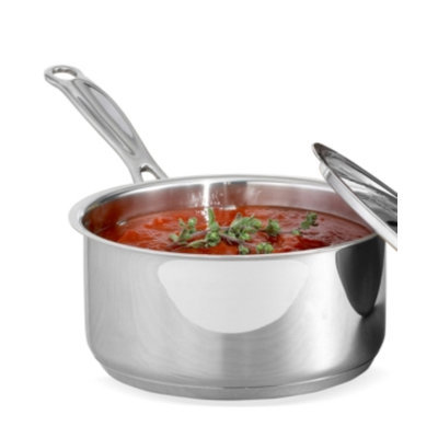Cuisinart Chef's Classic Stainless Saucepan with Cover - 1-1/2 Quart