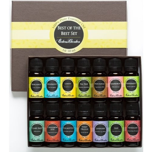 Edens Garden Essential Oil- Beginners Best of the Best Aromatherapy Gift Set- (100% Pure Therapeutic Grade Essential Oils) 14/ 10 ml