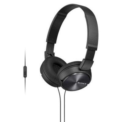 Sony On-the-Ear Headphones for Smartphones - Black (MDRZX310AP/B)