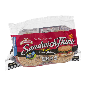 Brownberry Sandwich Thins Everything - 8 CT