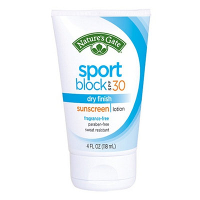 Nature's Gate Sportblock Dry Finish Sunscreen Lotion with Cucumber Extract SPF 50