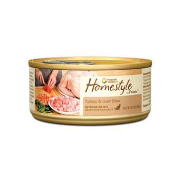 Nature's Variety Prairie Homestyle Turkey and Liver Stew Canned Cat Food (5.5-oz, case of 12)