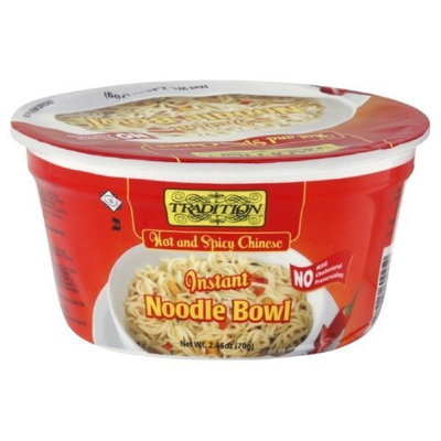Tradition Hot and Spicy Noodle Bowl No Msg, 2.45-Ounce (Pack of 12)