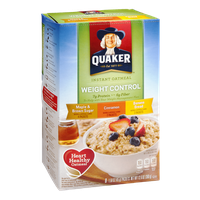 Quaker Instant Oatmeal Weight Control Variety Pack - 8 CT