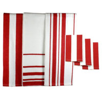 MU Kitchen 6pc Dish Towel & Dish Cloth Set - Red