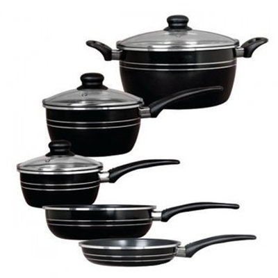 Gibson Overseas, Inc. Gibson 8pc Eastmont Collection Cookware Set- Black