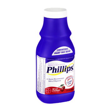 Phillips Milk of Magnesia Wild Cherry Saline Laxative
