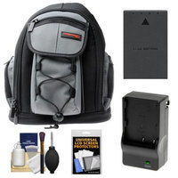 Precision Design PD-MBP ILC Digital Camera Mini Sling Backpack with BLS-1/BLS-5 Battery & Charger + Accessory Kit for Olympus PEN E-P3, E-PL2, E-PL3, E-PL5, E-PM1 & E-PM2 Cameras