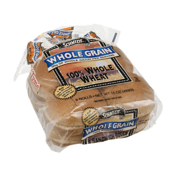 Schmidt Whole Grain Sandwich Rolls 100% Whole Wheat - 8 CT