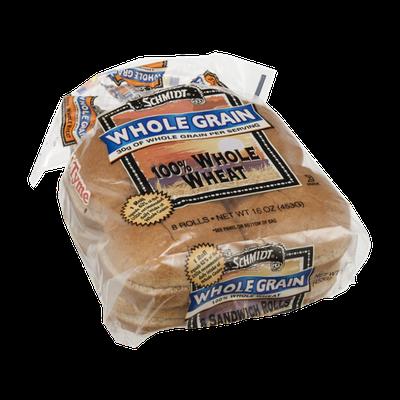 Schmidt Whole Grain Sandwich Rolls 100% Whole Wheat - 8 CT