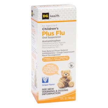 DG Health Children's Plus Flu Relief - Grape, 4 oz