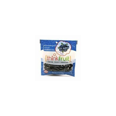 Thinkfruit On-the-Go Dried Fruit Snack, 12 packs, Whole Blueberries, 1 case
