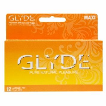 Glyde Premium Ethical and Vegan Condoms, Maxi, 12 ea