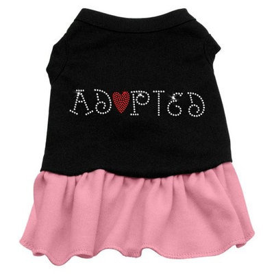 Mirage Pet Products 5702 MDBKPK Adopted Dresses Black with Pink Med 12