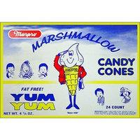 Marpro Marshmallow Candy Cones 24ct Box