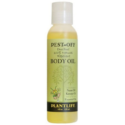 Plantlife Natural Insect Repellent Pest-Off Body Oil with Neem Oil, 4 oz