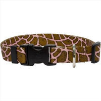 Yellow Dog Design GIRP100TC Giraffe Pink Standard Collar - Teacup