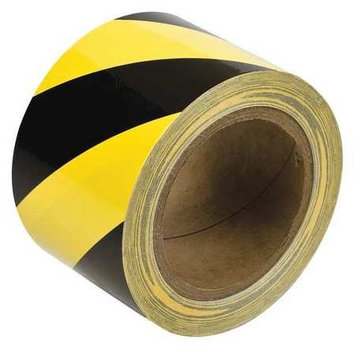 BRADY 58257 Aisle Marking Tape, Roll,3In W,60 ft. L