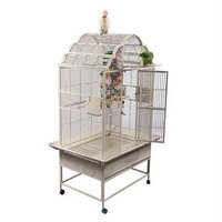 A&e Cage Large Victorian Top Bird Cage Color: Pure White