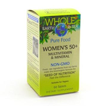 Whole Earth & Sea Women's 50+ Multivitamin & Mineral Natural Factors 60 Tabs