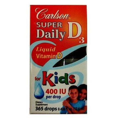 Carlson Super Daily D3 400 IU for Kids 0.35 fl.oz (10.3ml)