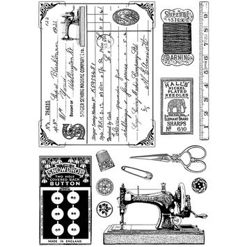 Cam Consumer Products, Inc. Crafty Individuals Unmounted Rubber Stamp Sewing Notions