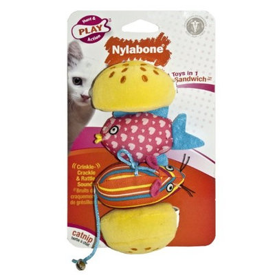 Nylabone Cat Play Silly Sandwich - 4-Toys-in-1
