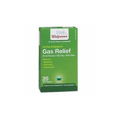 Walgreens Gas Relief Extra Strength Softgels, 20 ea
