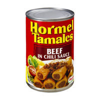 Hormel Beef Tamales in Chili Sauce